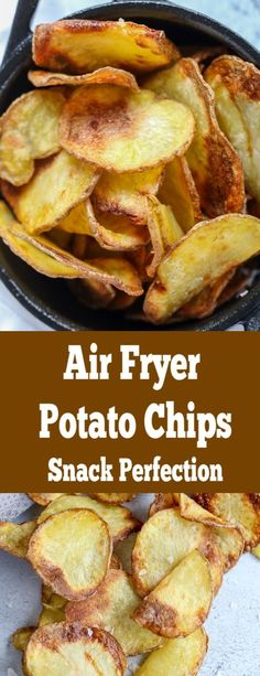 Air fryer potato chips, easy, quick and guilt free; the perfect movie night snack. Air fryer potato chips, easy, quick and guilt free; the perfect movie night snack. Air Fryer Recipes Breakfast, Air Fryer Oven Recipes, Air Frier Recipes, Air Fryer Dinner Recipes, Air Fryer Chips, Air Fryer Potato Chips, Patatas Chips, Movie Night Snacks, Movie Nights