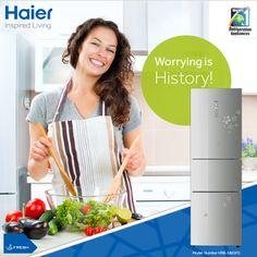 Enjoy 10 years #warranty with #Haier's Bottom Mounted #Refrigerators. #Technology #Appliances #Lifestyle #Innovation #HaierIndia #InspiredLiving