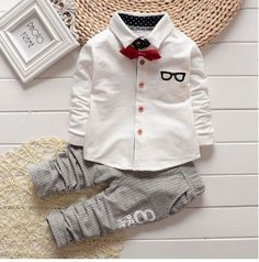 Cheap roupas de bebe, Buy Quality baby clothes gentleman directly from China spring baby Suppliers: 2017 new spring baby clothes gentleman baby boy shirt+overalls fashion baby boy girl clothes sets roupas de bebe Baby Boy Clothing Sets, Boys And Girls Clothes, Toddler Boy Outfits, Baby Boy Outfits, Children Clothing, Children Outfits, Baby Boy Shirts, Boys Shirts, Baby Boys