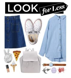 """""""Babe"""" by sofemmeia ❤ liked on Polyvore featuring Rock 'N Rose, Converse, NARS Cosmetics and Topshop"""
