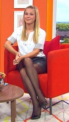 Italian radio presenter stockings amp nip slip - 3 1
