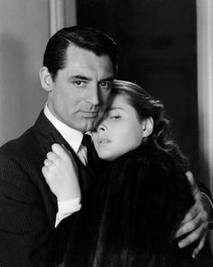 Cary Grant and Ingrid Bergman in Notorious (Alfred Hitchcock, 1946).  Gotta love him.