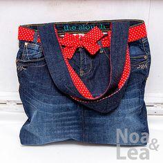 Upcycled trousers handbag by Noa & Lea for mother and daughter Torba Upcykling, Torba ze spodni, Torba z jeansów dla mamy i córki  http://noa-lea.pl/index.php/pl/sklep/sklep-torby/60-torby-pin-up-dla-mamy-i-corki