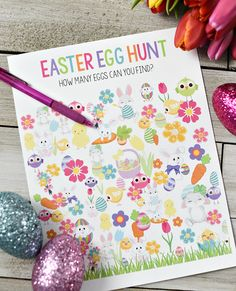 Printable Easter Egg Hunt Game for Preschoolers