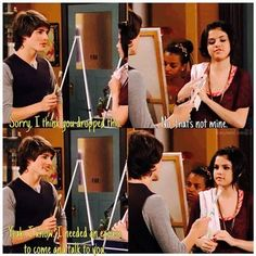 Wizards of Waverly Place hahaha Alex's face in the last frame :)