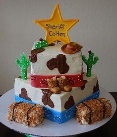 Western/sherriff cake