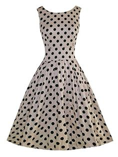 iLover Women's Classy Audrey Hepburn 1950s Vintage Rockabilly Swing Dress - Brought to you by Avarsha.com