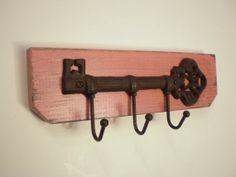 Distressed Cast  Iron Skeleton Key Hook by midwesterntreasures, $22.00