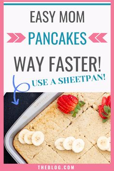 These pancakes are the best for a busy morning! Send them off with a filling and healthy breakfast like these pancakes, but make them on a sheet pan so it goes much faster! Clean Eating Breakfast, Make Ahead Breakfast, Breakfast Ideas, Oatmeal Pancakes Easy, Delicious Breakfast Recipes, Sheet Pan, Food Print, Food Processor Recipes, Healthy