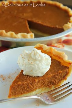 Low-FODMAP (also gluten and dairy free) Pumpkin Pie  |  Delicious as it Looks