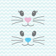Bunny Face SVG and PNG, Girl Bunny svg, Boy Bunny svg, Easter SVG, Easter Clipart, Bunny Bags diy, Commercial Use Clipart #affiliate