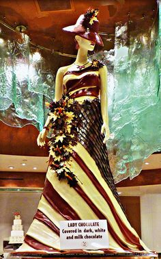 Life size chocolate sculpture by Jean Phillippe at Bellagio .