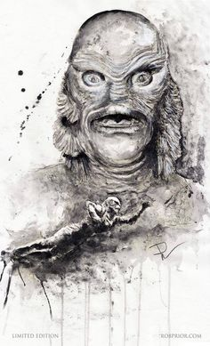 The Creature From the Black Lagoon - art by Rob Prior robprior.com