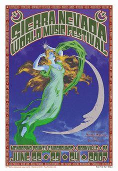 Chuck Sperry - Firehouse Sierra Nevada World Music Festival  Poster