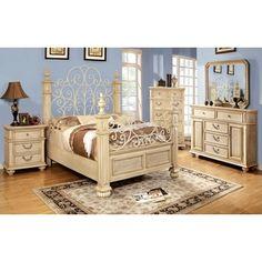 'Waldenburg' Luxurious Antique White 5-piece Queen Bedroom Set | Overstock.com Shopping - Big Discounts on Bedroom Sets