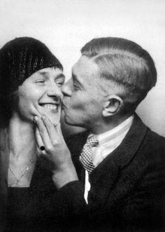 Belgian painter Rene Magritte (1898-1967) and his wife Georgette Berger in 1929