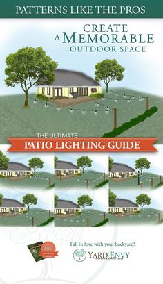 Illuminate your patio like a professional with the help of our ultimate patio lighting guide! If you've been dreaming of adding string lights to your outdoor spaces to liven up your summer parties, events and backyard relaxation, this is the guide for you! http://www.yardenvy.com/diy/patio-lights-guide/