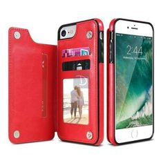 Cheap case for iphone, Buy Quality phone cases directly from China case plus Suppliers: Leather Flip Stand Phone Case for iPhone 7 7 Plus for iPhone 6 Plus Case Card Slot Back Cover for iPhone X 8 8 Plus PU Cover Iphone 6, Iphone 7 Plus, Coque Iphone, Iphone Cases, Pink Iphone, Iphone Leather Case, Iphone Wallet Case, Card Wallet, Leather Wallet