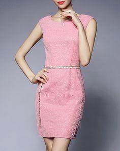 #AdoreWe #VIPme Sheath Dresses - GYALWANA Round Neck Sleeveless Sheath Dress - AdoreWe.com