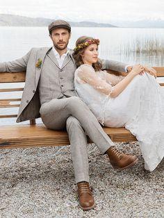 Details Hochzeitsanzug In Graublau Fur Einen Brautigam Vintage