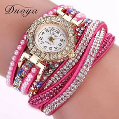 Women Dress Rhinestone Bracelet Watches Casual Fabric Classic Wristwatch Women Ladies Fashion Quartz Wrist Watch Gift XR1885