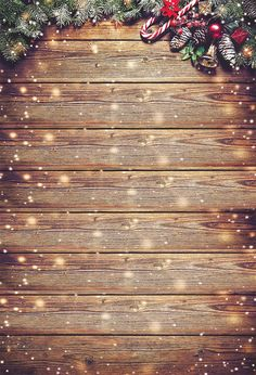 Brown Wood Wall Christmas Backdrop for Photo - 6(W)X9(H)FT(1.8x2.75M)