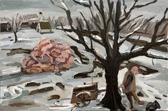 Dan Schein Pigs in a Pile, 2011, Oil on canvas, 60 x 90 cm