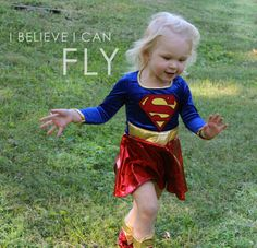 This is my beautiful daughter Natalie who transformed into Supergirl when she put the costume on. So very cute and lovely.