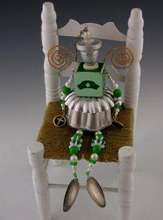 OOAK Folk Art Recycled Upcycled Junk Fairy Nurse by krodenbach, $39.00