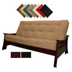 @Overstock - This versatile suede futon sofa adds both style and function to your living space. The solid wood futon frame is topped by a microfiber faux suede futon in your choice of eight different colors. The upholstery is easy to clean and great for pet owners.http://www.overstock.com/Home-Garden/Solid-All-Wood-Bellevue-Microfiber-Suede-Inner-Spring-Full-size-Futon-Sofa-Bed-Sleeper/6407024/product.html?CID=214117 $649.99