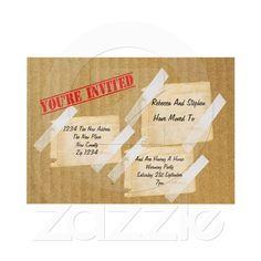 House Warming Party CardBoard Box Custom Invite from Zazzle.com