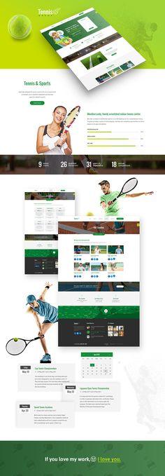 #tennis #composer #themeforest #sports #design #wordpress #theme #photoshop #green #health #diadea #diadea3007