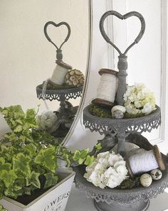 Vintage Inspired: home decor with heart