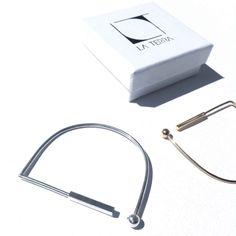 Linear geo balance cuff - silver