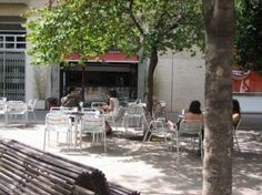 Bar Lennon in Plaça John Lennon in Barcelona (by Pedro Ghinaglia) Outdoor Furniture Sets, Outdoor Decor, Terrace, Barcelona, Patio, John Lennon, Home Decor, Balcony, Decoration Home