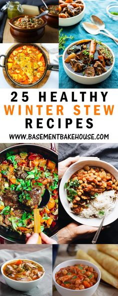 25 of the best Healthy Winter Stew recipes from around the web, perfect for meal prep or delicious family dinner recipe inspiration. Winter Warming and Fragrant Recipes For Karen Gilbert Lunch Recipes, Soup Recipes, Healthy Recipes, Fish Recipes, Crockpot Recipes, Slimming World Vegetarian Recipes, Healthy Cooking, Winter Stew Recipe, Winter Dinner Recipes