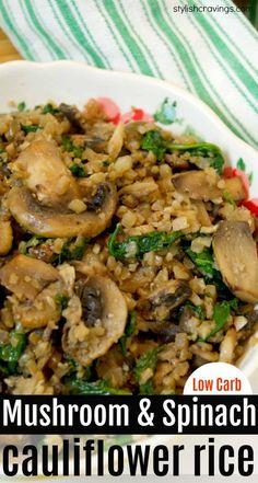 Mushroom & CauliflowerCauliflower Rice – Healthy side dish that's low carb and keto friendly! Mushroom & CauliflowerCauliflower Rice – Healthy side dish that's low carb and keto friendly! Vegetarian Side Dishes, Healthy Side Dishes, Veggie Dishes, Vegetable Recipes, Turkey Side Dishes, Low Carb Side Dishes, Vegetable Salad, Healthy Recipes, Beef Recipes