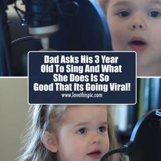 Dad Asks His 3 Year Old To Sing And What She Does Is So Good That Its Going Viral! singing adorable sing story video videos viral cute videos adorable videos viral videos kid videos