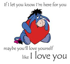 Most memorable quotes fromEeyore, a movie based on film. Find important Eeyore and piglet Quotes from film. Eeyore Quotes about winnie the pooh and friends have inspirational quotes. Cute Winnie The Pooh, Winne The Pooh, Winnie The Pooh Quotes, Eeyore Quotes, Hug Quotes, Funny Quotes, Crush Quotes, Qoutes, Tattoo Quotes