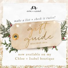 Hello holidays! Check off your gift list today with our sparkly new Gift Guide in my boutique!