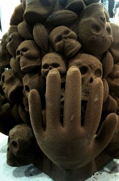 Chocolate sculpture by Chef Jose Ramon Castillo
