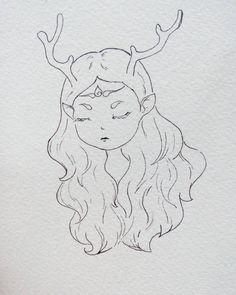 . Jika seperti itu yg diinginkan, apalah yg bisa aku perbuat? Daun terjatuh tak mungkin bisa kembali pada ranting . . . . . #onprogress #drawing #illustration #drawingpen #fantasy #fairy #sadnessstory #girl