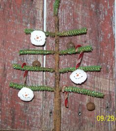 Primitive Faux Feather Tree with Primitive by WillowCreekPrims, $19.99