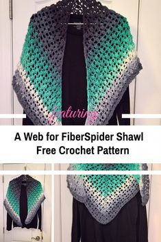 Stunning One Row Crochet Shawl With Free Pattern - Knit And Crochet Daily Crochet Shawl Free, Crochet Shawls And Wraps, Crochet Shirt, Crochet Scarves, Crochet Motif, Knit Crochet, Crochet Hats, Crochet Edgings, Knitted Shawls