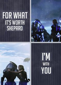 For what it's worth Shepard, I'm with you.