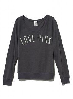 Victoria's Secret PINK Long-sleeve Raglan Tee #VictoriasSecret http://www.victoriassecret.com/pink/tops/long-sleeve-raglan-tee-victorias-secret-pink?ProductID=82364=OLS?cm_mmc=pinterest-_-product-_-x-_-x