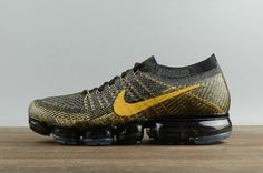 online store 74676 26e2c Official Nike Air Vapormax Flyknit Black Noir Gold 849558-009 Youth Big  Boys Shoes Nike