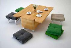 Wooden Cabinet That Transformed Into Coffee Table & Sofa  JULIA KONONENKO