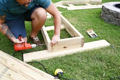 Diy Curved Fire Pit Bench drilling step