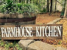"Large Rustic Wood Sign - ""Farmhouse Kitchen"" -Fixer Upper, HGTV, Farm"